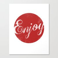 Enjoy Canvas Print
