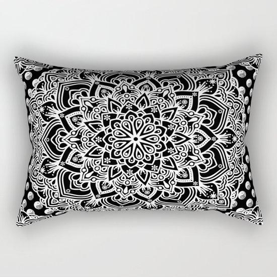 Black & White Yin Yang Mandala Rectangular Pillow