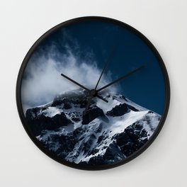 Crushing clouds #mountain #snow Wall Clock
