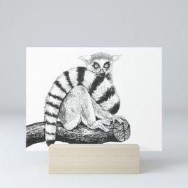 Lemur drawing Mini Art Print