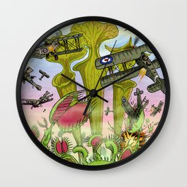 Plants Vs Planes Wall Clock