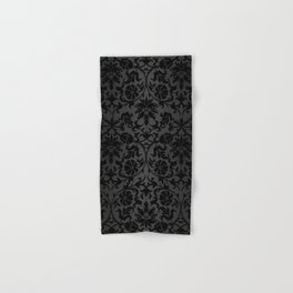 Black Damask Pattern Design Hand & Bath Towel
