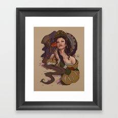 Beauty and the Beast Flat Art Framed Art Print