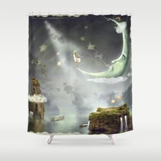 People shower curtains society6 for Miracle magic bathroom