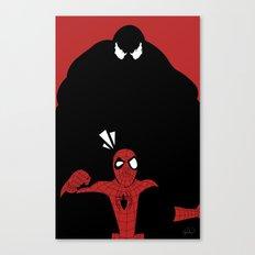 Spiderman (Ultimate) vs Venom Canvas Print