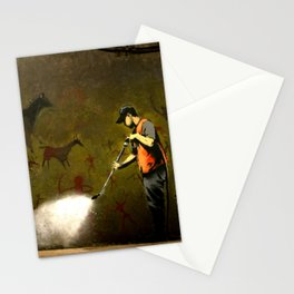 Banksy - Removing Historys Art Stationery Cards