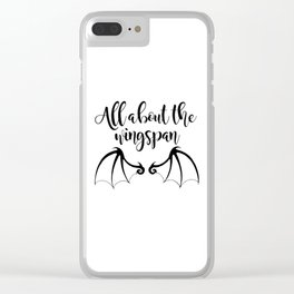All about the wingspan white design Clear iPhone Case