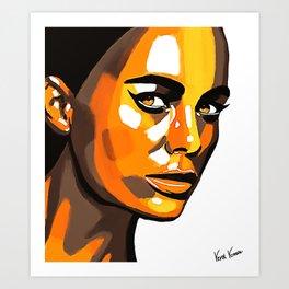 Orange Face Art Print