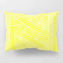 Sketchy Abstract (White & Yellow Pattern) Pillow Sham