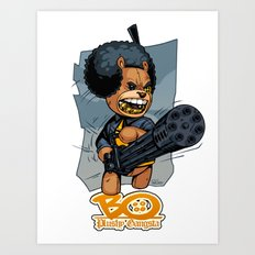 Bo: Plushy Gangsta Art Print