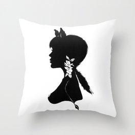 Foxy Silhouette Throw Pillow