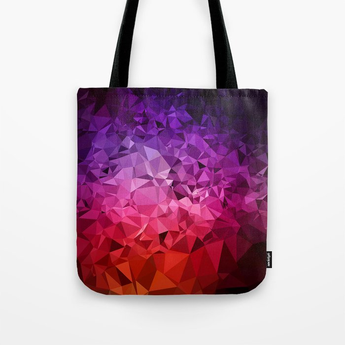 Ultra Violet Diamond Rainbow tote bag by Dominique Vari