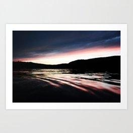 The River Sunset... Art Print