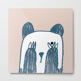 No peeking panda Metal Print