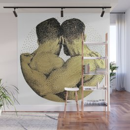 The Pair - NOODDOODs (gold doesn't print shiny) Wall Mural