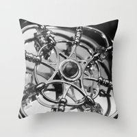 clockwork Throw Pillows featuring Clockwork by This N That