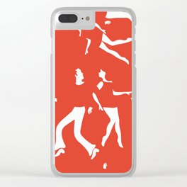 Funky couples dancing Clear iPhone Case