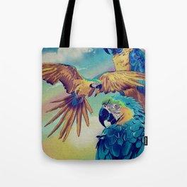 The Three Macaws Tote Bag