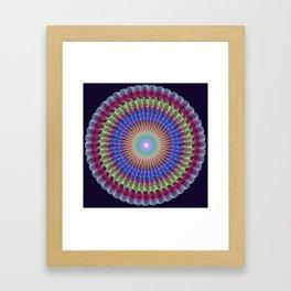 Scalloped textured pattern mandala abstract Framed Art Print