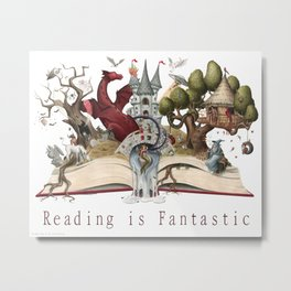 Reading is Fantastic Metal Print