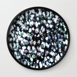 White and blue painted dots pattern Wall Clock