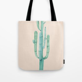Solo Cactus Mint on Coral Pink Tote Bag