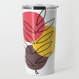 Circles — Minimalist Plant Art Travel Mug