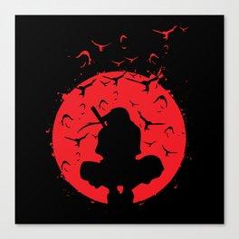 Silhouette Itachi Canvas Print