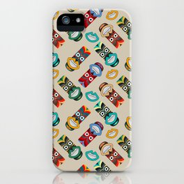 Ethnic Tribal Masks iPhone Case