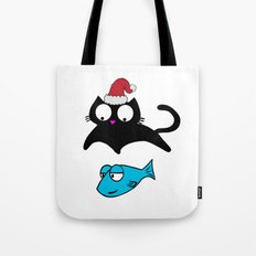 Lucky Xmas Cat Tote Bag