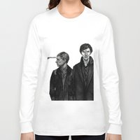 cabin pressure Long Sleeve T-shirts featuring Pressure Points by Charlotte Hussey
