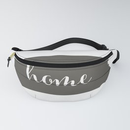Pennsylvania is Home - Charcoal on White Wood Fanny Pack