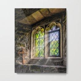 Chapel Light on Bible Metal Print