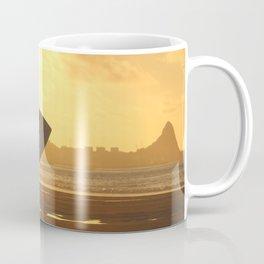 Surfer on the Beach (Woman) Coffee Mug