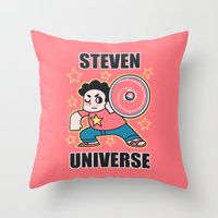 steven universe Throw Pillows featuring Steven by ZoeStanleyArts