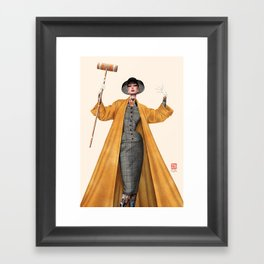Croquet and Ink Eight Framed Art Print