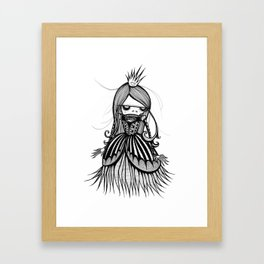 Skeleton Princess Framed Art Print