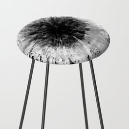 Black and White Tie Dye // Painted // Multi Media Counter Stool