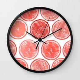 Polka Grapefruit Wall Clock
