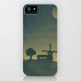 Nautical Dawn Windmill iPhone Case