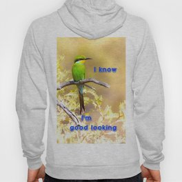 Beautiful swallow-tailed bee-eater with text message. Hoody