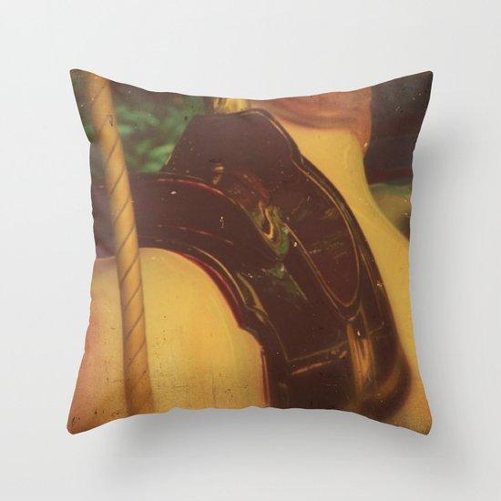 Merry Go Round Throw Pillow