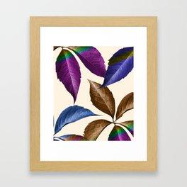 Coppertone Multi-color Leaves Framed Art Print