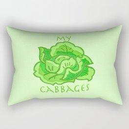 my cabbages! Rectangular Pillow
