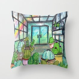 cactus are awesome Throw Pillow