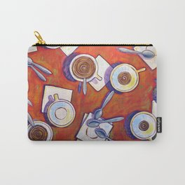 The Get Together ... Kitchen Coffee Cup Art Carry-All Pouch