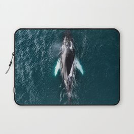 Humpback Whale in Iceland - Wildlife Photography Laptop Sleeve
