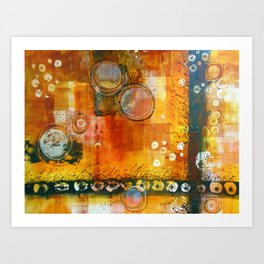 Abstract Hot and Spicy Art Print