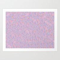 Geo Tile- Purple and Orange Art Print