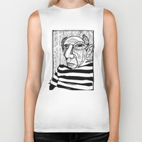 pablo picasso Biker Tanks featuring Pablo Picasso by Benson Koo